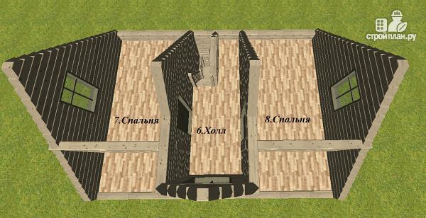 Фото 10: проект дом из бруса 6х8 с террасой