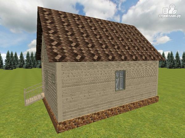 Фото 5: проект дом из бруса 6х8 с террасой