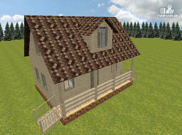 Фото 2: проект дом из бруса 6х8 с террасой