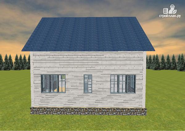 Фото 6: проект дом из бруса 6х8 с тремя фронтонами
