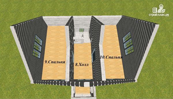 Фото 10: проект дом из бруса 6х8 с тремя фронтонами