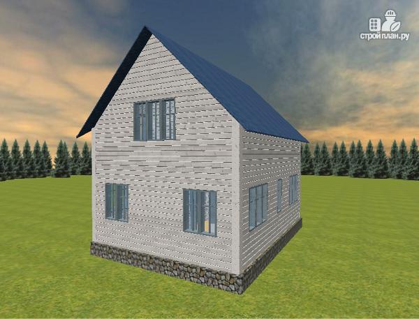 Фото 5: проект дом из бруса 6х8 с тремя фронтонами