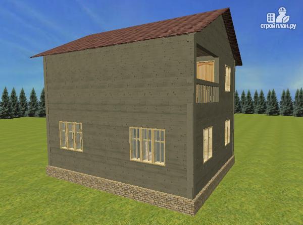 Фото 5: проект дом из бруса 6х8 со вторым светом