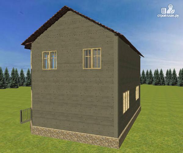 Фото 4: проект дом из бруса 6х8 со вторым светом