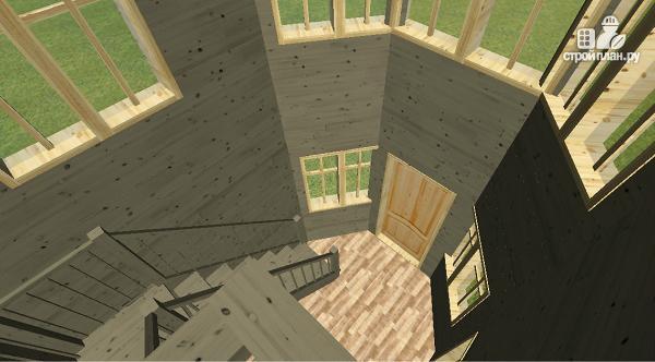 Фото 7: проект дом из бруса 6х8 со вторым светом