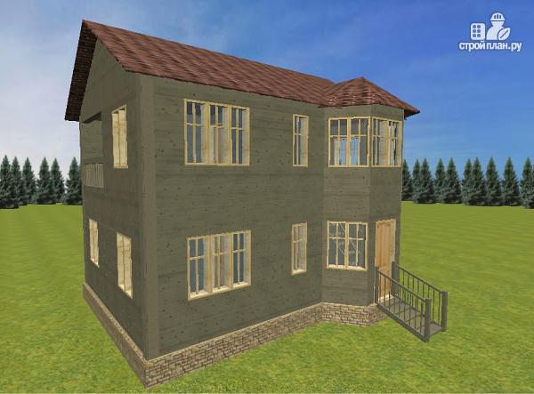 Фото 3: проект дом из бруса 6х8 со вторым светом