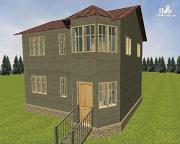 Фото: дом из бруса 6х8 со вторым светом