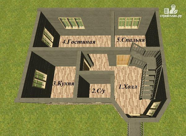 Фото 10: проект дом из бруса 6х8 со вторым светом