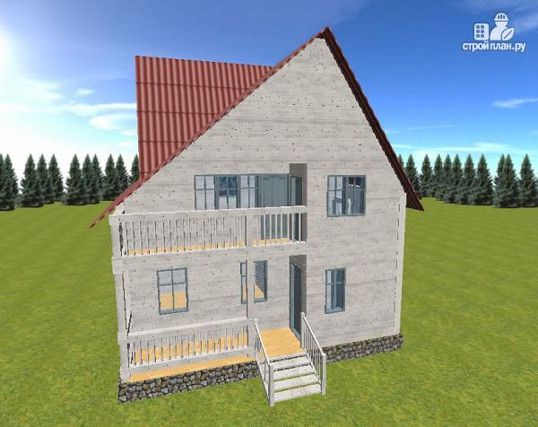 Фото 2: проект дом из бруса  6х8 с балконом