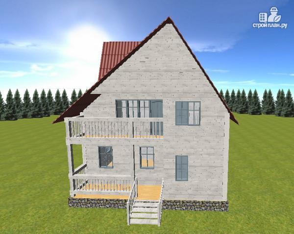 Фото 4: проект дом из бруса  6х8 с балконом