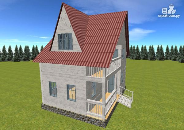 Фото 7: проект дом из бруса  6х8 с балконом