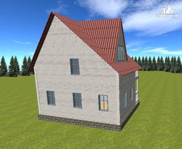 Фото 6: проект дом из бруса  6х8 с балконом