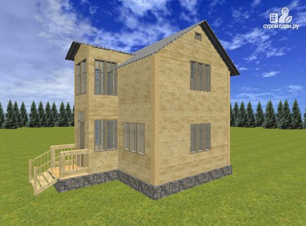 Фото 5: проект двухэтажный дом из бруса 6х8