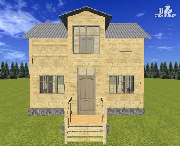 Фото 4: проект двухэтажный дом из бруса 6х8