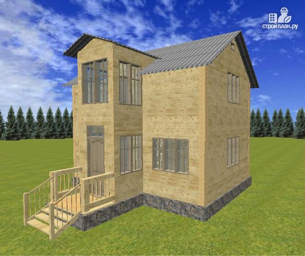Фото 2: проект двухэтажный дом из бруса 6х8