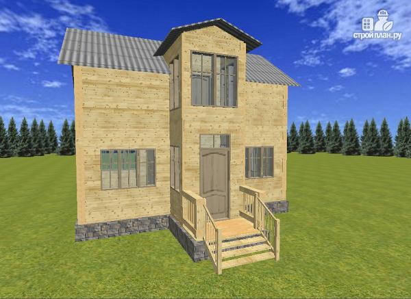 Фото 3: проект двухэтажный дом из бруса 6х8