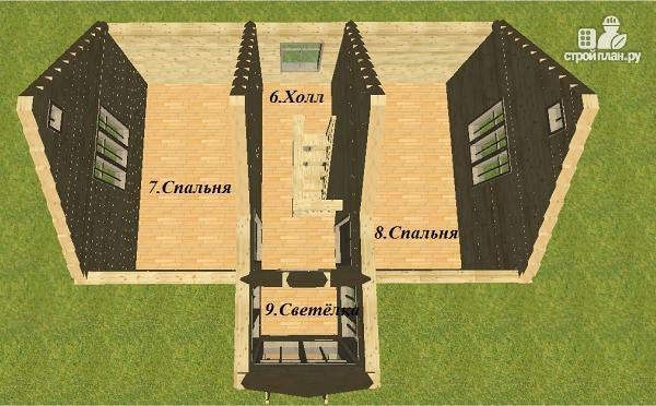 Фото 11: проект двухэтажный дом из бруса 6х8