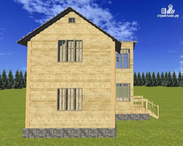 Фото 7: проект двухэтажный дом из бруса 6х8