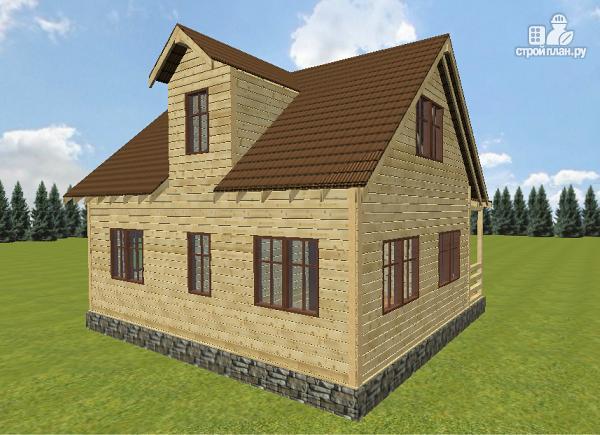 Фото 2: проект дом из бруса 6х9
