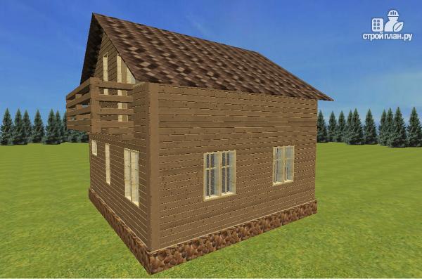 Фото 7: проект дом из бруса с эркерами 7х7