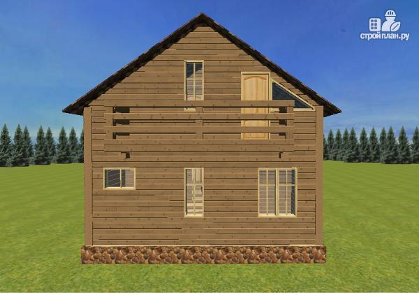Фото 6: проект дом из бруса с эркерами 7х7