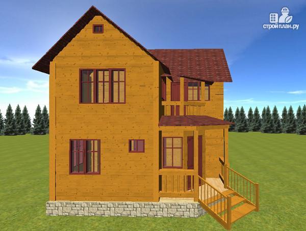 Фото 5: проект дом из бруса 7х7, с балконом