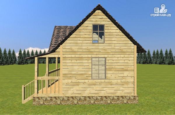 Фото 3: проект дом-баня из бруса 6х6 с большой террасой