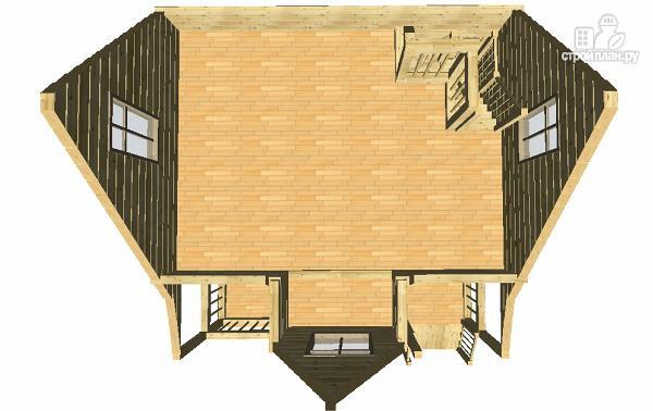 Фото 13: проект дом-баня из бруса 6х6 с большой террасой