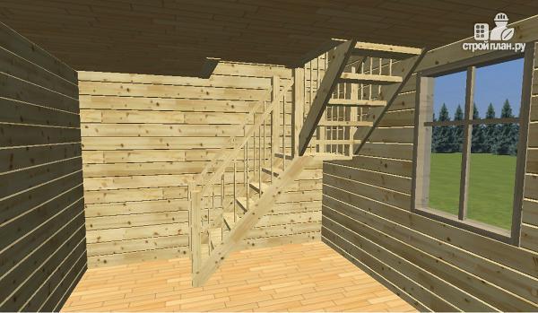 Фото 6: проект дом-баня из бруса 6х6 с большой террасой