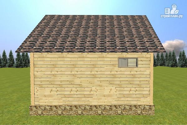 Фото 4: проект дом-баня из бруса 6х6 с большой террасой