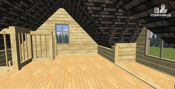 Фото 7: проект дом-баня из бруса 6х6 с большой террасой