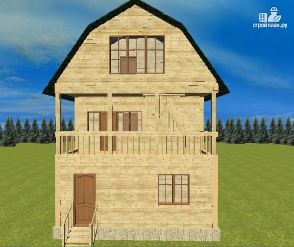 Фото 2: проект дом из бруса 7х8.5, трехэтажный