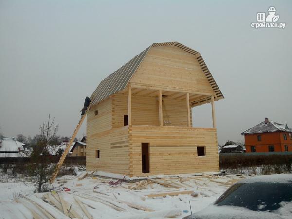 Фото 14: проект дом из бруса 7х8.5, трехэтажный