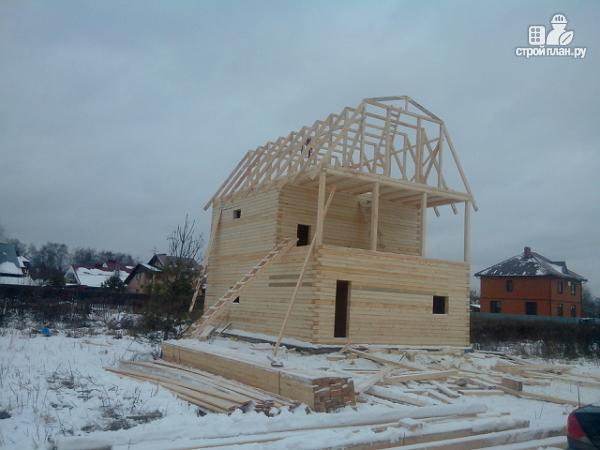 Фото 11: проект дом из бруса 7х8.5, трехэтажный
