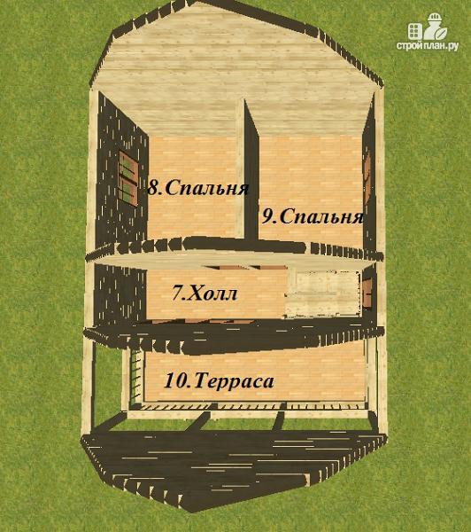 Фото 9: проект дом из бруса 7х8.5, трехэтажный
