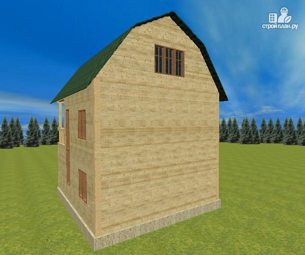 Фото 4: проект дом из бруса 7х8.5, трехэтажный