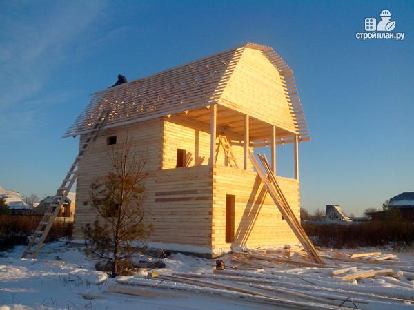 Фото 12: проект дом из бруса 7х8.5, трехэтажный