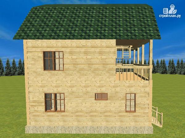 Фото 5: проект дом из бруса 7х8.5, трехэтажный