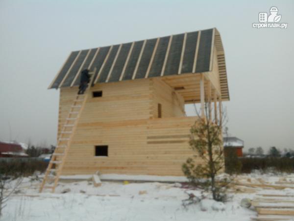 Фото 15: проект дом из бруса 7х8.5, трехэтажный