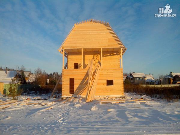 Фото 13: проект дом из бруса 7х8.5, трехэтажный