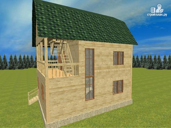 Фото 3: проект дом из бруса 7х8.5, трехэтажный