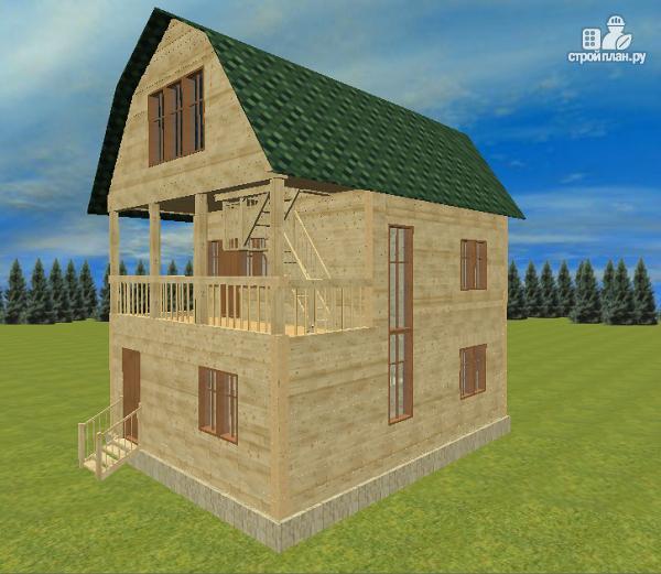 Фото: проект дом из бруса 7х8.5, трехэтажный