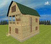 Проект дом из бруса 7х8.5, трехэтажный