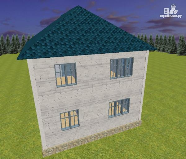 Фото 6: проект дом из бруса 7х9 с террасой и балконом