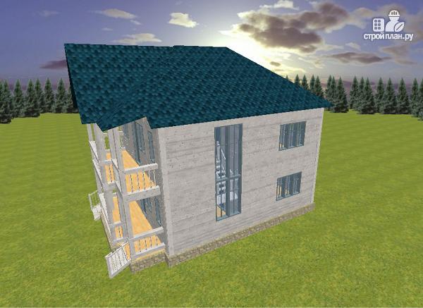 Фото 5: проект дом из бруса 7х9 с террасой и балконом