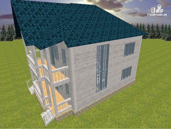 Фото 3: проект дом из бруса 7х9 с террасой и балконом