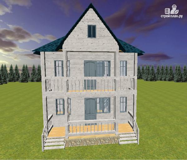 Фото 4: проект дом из бруса 7х9 с террасой и балконом
