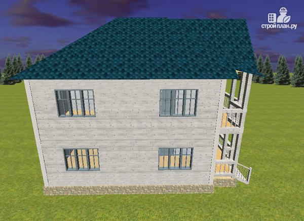 Фото 7: проект дом из бруса 7х9 с террасой и балконом