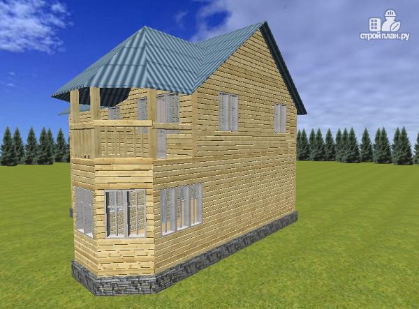 Фото 6: проект дом из бруса 7х9 с эркерами и балконами