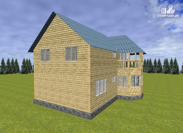 Фото 4: проект дом из бруса 7х9 с эркерами и балконами